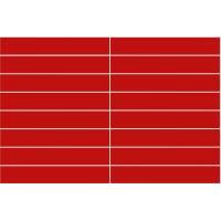 Kjøkkenplate Rød Blank LINE 30x5 (10x620x580mm)